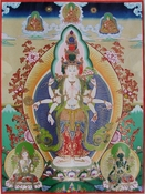 Avalokiteshvara thangka by Vello Väärtnõu 1986
