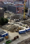 Construction work in Viru Square