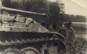 Damaged German military equipment