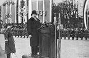 Konstantin Päts making a speech