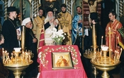 Patriarch Bartholomeos I in the Värska church