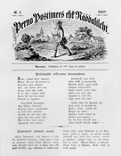 First issue of the newspaper 'Perno postimees'