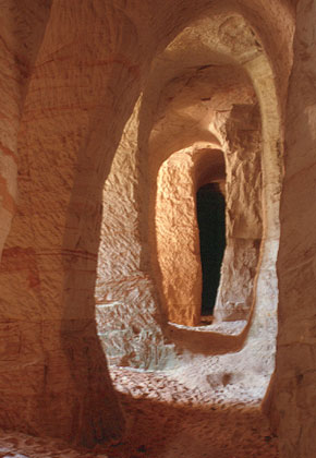 Sandstone caves near Piusa