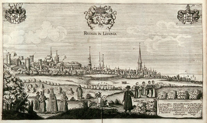 View of Tallinn from mid-17th century