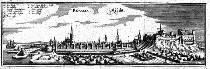 View of Tallinn in late 16th century.