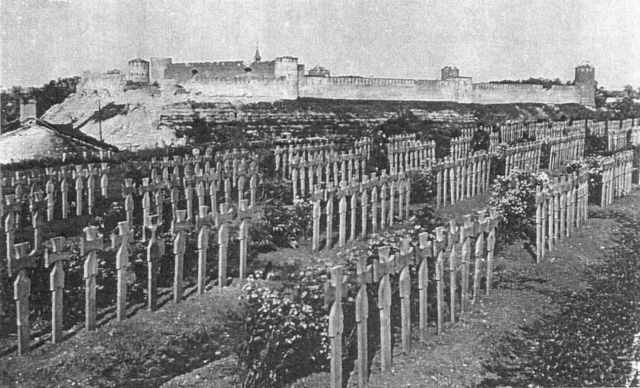 German military cemetery in Narva in 1944