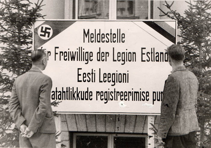 Registration of volunteers to the Estonian Legion